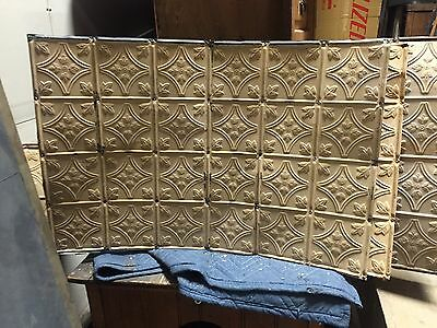 5 pieces GORGEOUS antique VICTORIAN tin ceiling pressed FLORAL BOW pattern 36&48