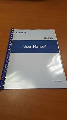 Samsung Galaxy S7 G930F Full Printed Instruction Manual User Guide 174 Pages A5