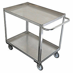 GRAINGE Stainless Steel Unassembled Utility Cart,SS,53 L,1200 lb, 11A464, Silver