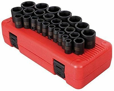 1/2-Inch Drive Metric Impact Socket Set, 26-Piece  SUN2645