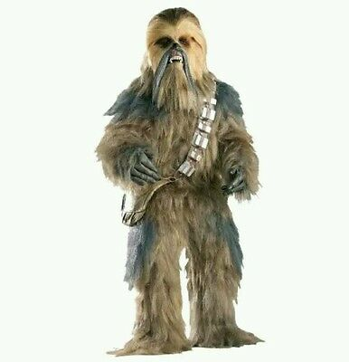 Supreme Deluxe Star Wars Chewbacca Fancy Dress Costume Adult Xmas Mascot