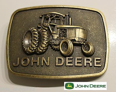 ♈ Raised Graphics   ♈ Antique Bronze finish Belt Buckle Farm Country John Deere