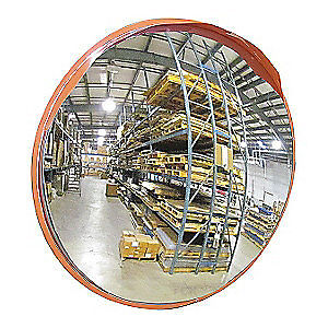 GRAINGER APPROVED Convex Mirror,34Dia,Stainless Steel, 2GVZ1