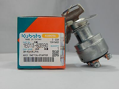 New Kubota Diesel Engine Ignition Key Switch 1E013-63590, Turf Mowers,power Unit