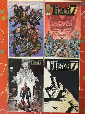 Team 7 Image Comics #1-4 1 2 3 4 Run Set 1St Print Lot Nm
