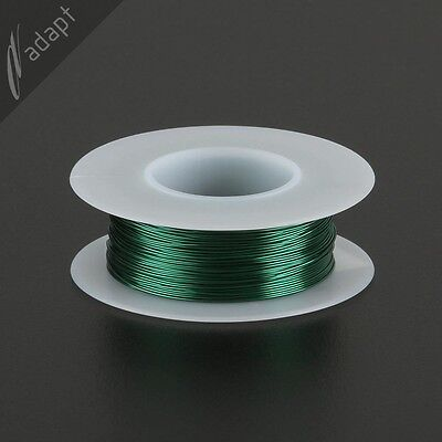 26 AWG Gauge Magnet Wire Green 163' 155C Solderable Enameled Copper Coil Winding
