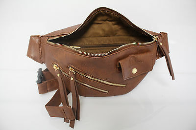 DiFranzo Leather Fanny Pack, Fashion Waist Bag, NEW