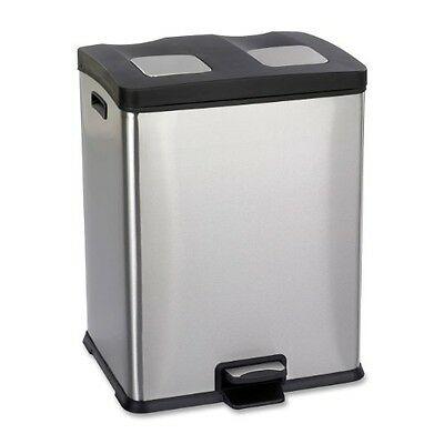 Safco Products 9634SS Right-Size Waste Recycling Station, Two 7 1/2-Gallon