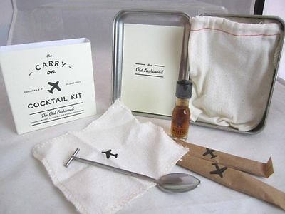 The Carry On Cocktail Kit THE OLD FASHIONED The Carry on Cocktail Kit NEW in tin