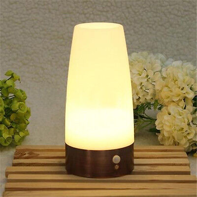 Wireless Battery Operated Motion Sensor Room Security Night Light LED Table Lamp