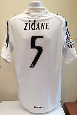 Real Madrid Football Shirt Jersey ZIDANE 5 Adult Large L Home 2005/06 Siemens