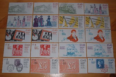 Weeda Great Britain QEII Decimal booklets, 20 different, FM1A//FN6A CV ₤115.50