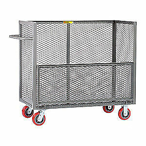 GRAINGER APPROVED Welded Drop-Gate Truck,2000 lb., CAWD-3060-6PY, Gray