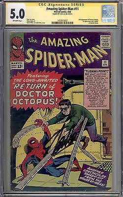 Amazing Spider-Man #11 CGC 5.0 SS Signed by Stan Lee