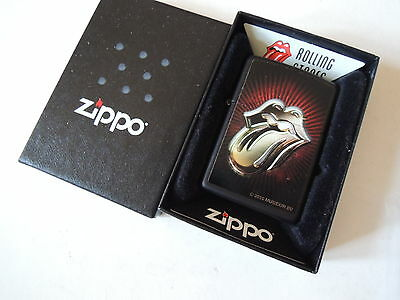 Authentic Zippo Lighter - Rolling Stones 28253 - No Inside Guts Insert