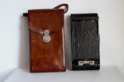 KODAK No 3A FOLDING AUTOGRAPHIC BROWNIE CAMERA ROLLFILM C 1920 +CASE GOOD (USED)