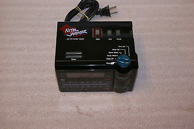 Vintage 1980s General Electric Nite Jammer AM FM Alarm Clock Radio WORKS