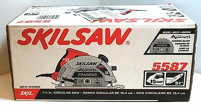 Skil Circular Saw 15 Amp 7-1/4 in. Professional Wood Cutting Power Blade Tool