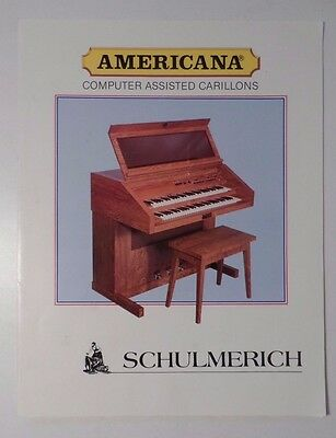 Vintage Schulmerich Americana Computer Assisted Carillons Color  Brochure