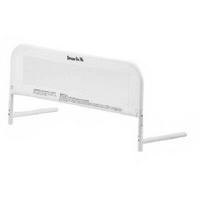 Safety Sided Bed Rail Unisex Toddler Kid Nursery Strong Secure Crib Rail White