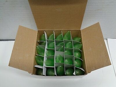 LED C9 LED Light BULB GREEN Faceted CHRISTMAS Replacement 5 Diode NEW BOX OF 25