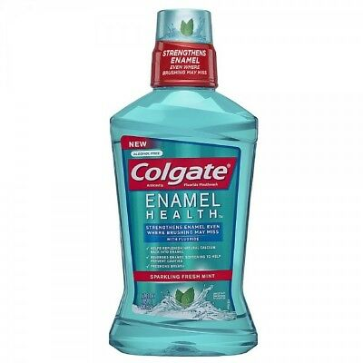 Colgate Enamel Health Mouthwash, Fresh Mint, 16.9oz 035000671585A446