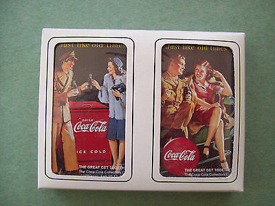 Coca-Cola Pack Of 2 Playing Cards- Just Like Old Times