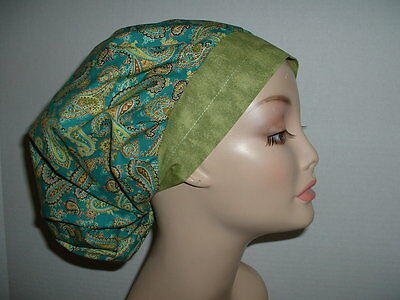 St Patrick's Day Irish Paisley Jade Green OR Surgical Bouffant Scrub Hat CNOR
