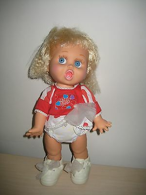 GALOOB Vintage 1990 Baby Face #2 SO SURPRISED SUZI Doll in Dress & Shoes