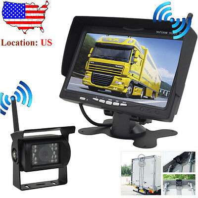 Backup Camera System >> Bulit In Wireless Rear View Backup Camera System 7 Lcd For