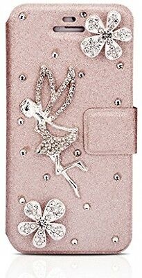 Infinite U Jewellery Rhinestone Angel Cell Phone Leather Case/Cover For IPhone