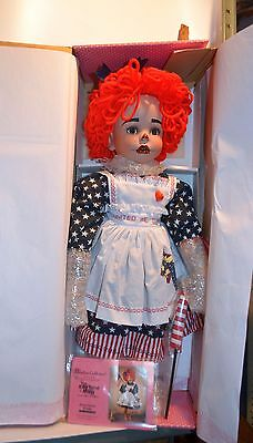 "Paradise Galleries Collectible 24"" Porcelain USA Doll ""Rag Time Molly""  NIB"