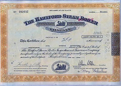 The Hartford Steam Boiler Inspection Insurance Company Stock Certificate