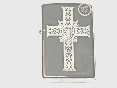 New ZIPPO Windproof Lighter Jewekry Heart & Cross Jesus Loves U 0 41689 112779 4