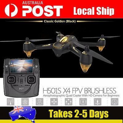 AU! Hubsan H501S X4 FPV Real-time Quadcopter Brushless GPS RC Drone+Free Battery
