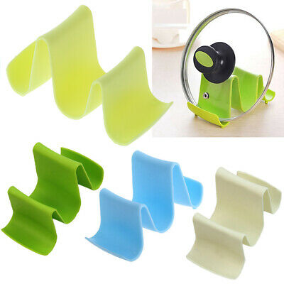 Pan Pot Cover Lid Rack Spoon Rest Stand Holder Kitchen Utensil Tool Wave Style