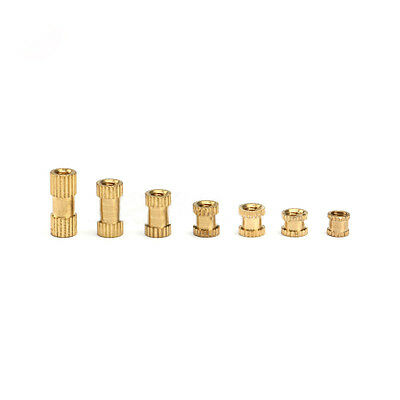 M3*4 Press-In Brass Inserts Knurl Threaded Nut Part For Plastic