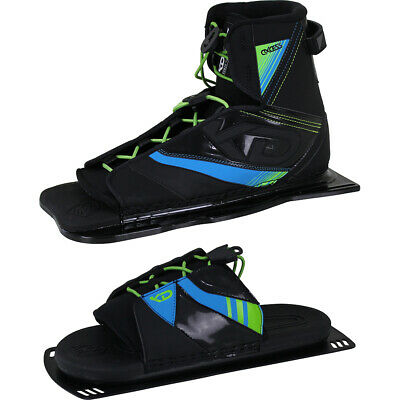Kd Skis Axcess Water Ski Boot Binding + Optional Axcess Rtp - Black/green/blue