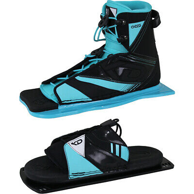 Kd Skis Axcess Water Ski Boot Binding + Optional Axcess Rtp - Black / Aqua