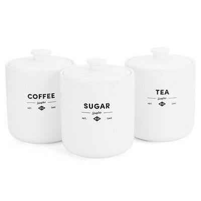 NEW Ecology Staples Foundry Canister Set 3pce