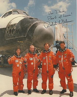 ROBERT GIBSON HAND SIGNED 8x10 COLOR PHOTO+COA       NASA ASTRONAUT      TO DAVE