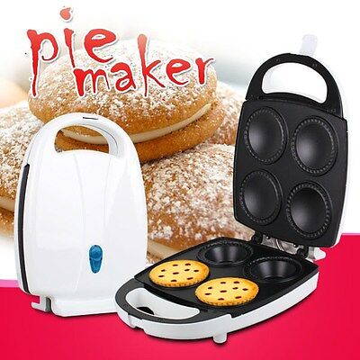 2013 New Stainless Non-Stick Pie & Quiche Maker with 4 Slots & Bonus Recipe Book