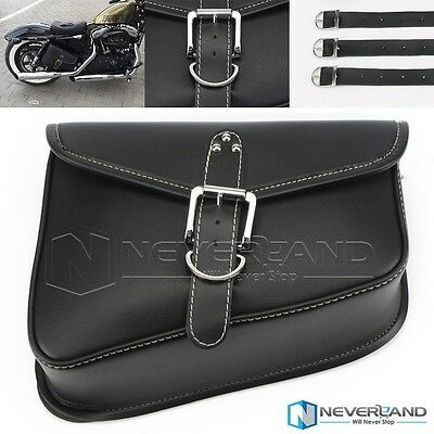 PU Leather Right side Saddlebag Saddle Bag For Harley Sportster XL 883 XL 1200