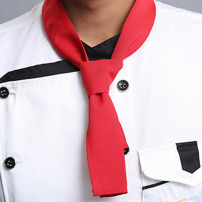 RED Fashion Print Neckerchief Chef Scarf Waiter Waitress Hotel Restaurant