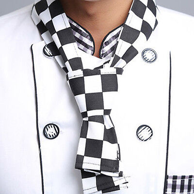 Chequer Board Fashion Print Neckerchief Chef Scarf Waiter Waitress  Hotel