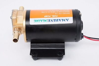Black Color Self-priming Rear Mount Oil Fuel Gear Pump 12V Scavenge Replace STS