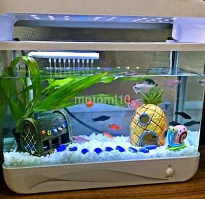House Hole Fish Tank Aquarium Pineapple Ornament Spongebob Hide Cave YellowUS