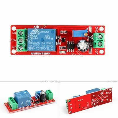 DC 12V Delay Relay Shield NE555 Timer Switch Adjustable Module 0 to 10 Second B4