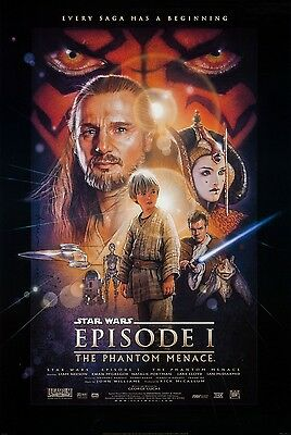 STAR WARS EPISODE I ONE Double Sided Original One Sheet Movie Poster 27x40 RARE