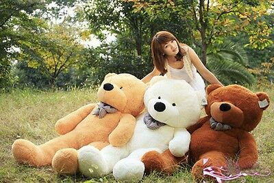 80/100/120CM Huge Teddy Bear Soft Doll Valentines Giant Perfect Gift Toy Girls